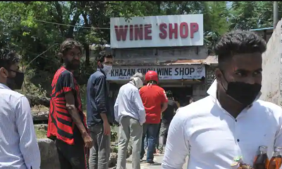 Liquor store opens;  People express anger