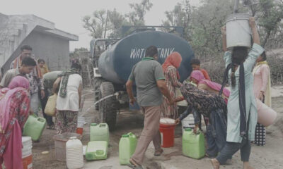 'Drinking water is being provided to the village's paddal from tractor tanker