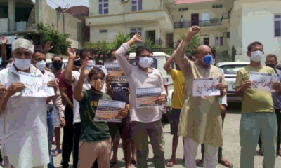J&K Youth Congress continues protest against rising fuel prices