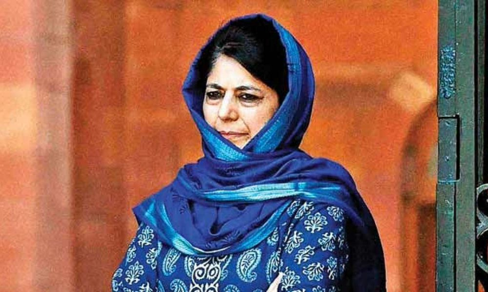 Mehbooba Mufti booked for inciting youth and sedition