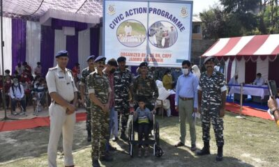 CRPF distributes wheelchairs to the differently-abled at the medical camp in Jammu and Kashmir's Budgam